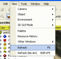 The refresh command in View